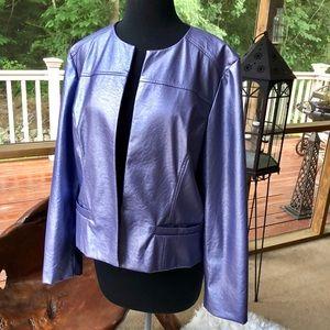 {Chico's} Lavender Faux Leather Jacket •Size 2